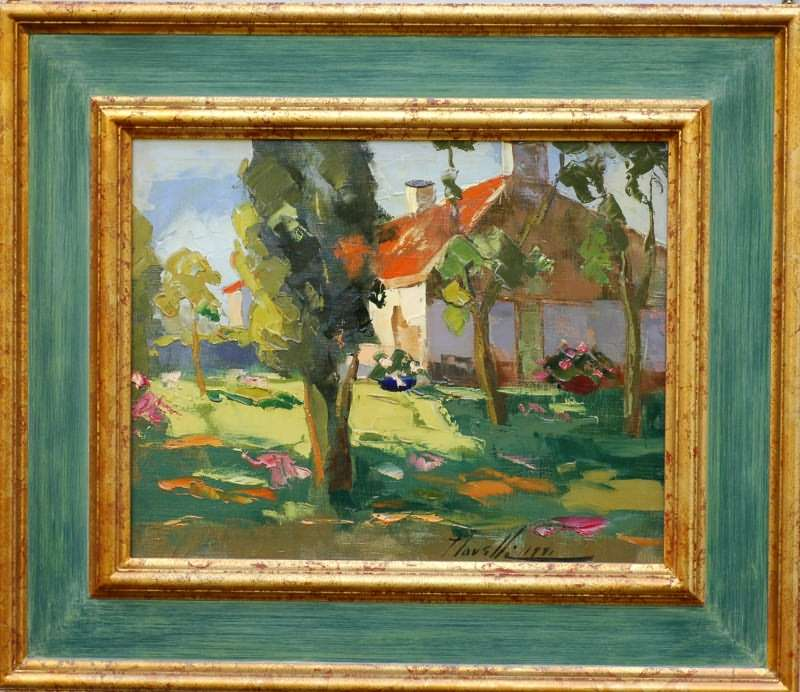 Novelli Painting At Jennmaur Gallery