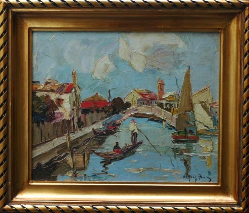 Rudolf Negely Painting At Jennmaur Gallery
