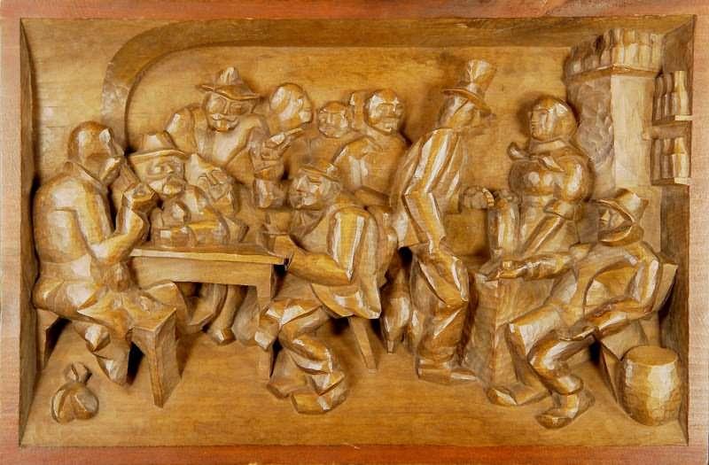 Franz irsara wood sculpture at jennmaur gallery
